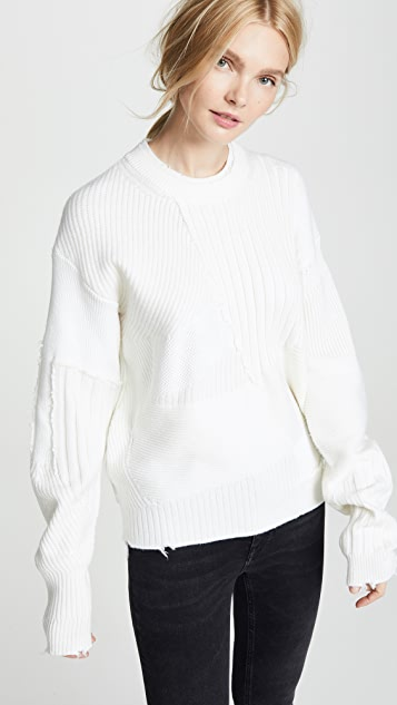 Helmut Lang Oversized Military Crew Neck Sweater