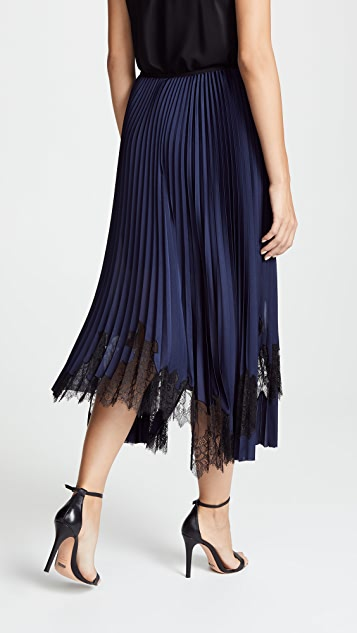 Helmut Lang Pleated Tricot Skirt