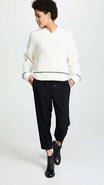 Helmut Lang Brushed V Neck Sweater
