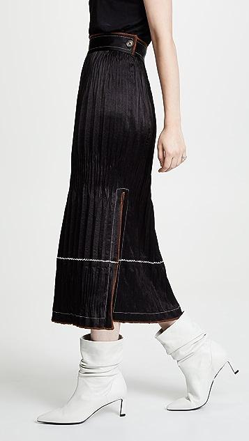 Helmut Lang Плиссированная юбка из жатой ткани