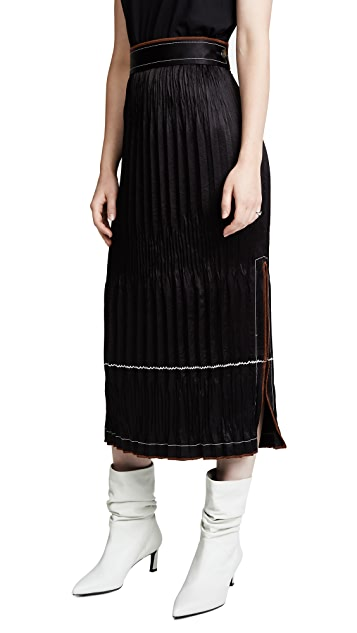 Helmut Lang Crinkle Pleated Skirt