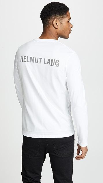 Helmut Lang Overlay Logo Long Sleeve Tee