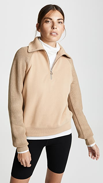 Sweater Combo Zip Sweatshirt by Helmut Lang