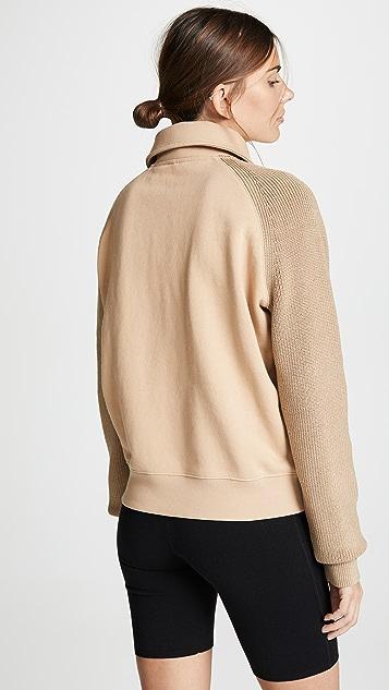 Helmut Lang Комбинированная толстовка-свитер с молнией
