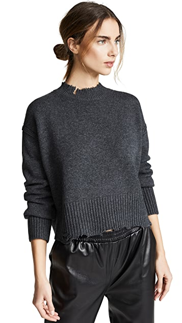 Helmut Lang Distressed Crew Pullover