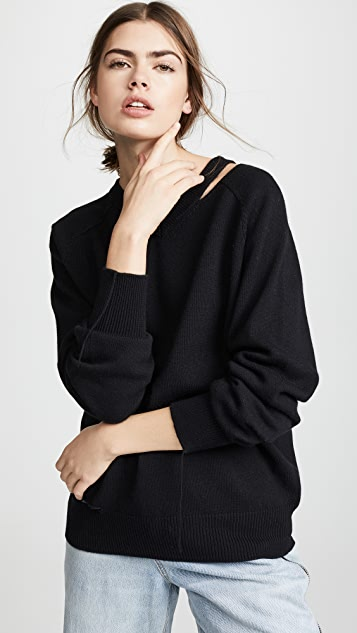 Slash V Neck Pullover by Helmut Lang