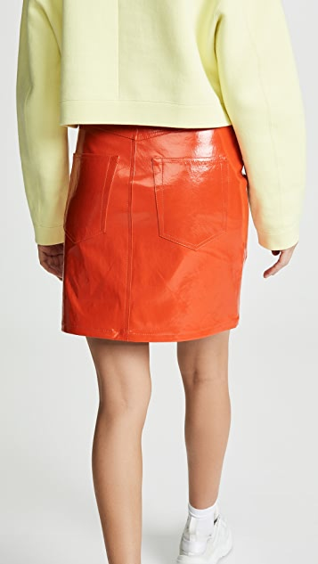 Helmut Lang Patent Leather Skirt