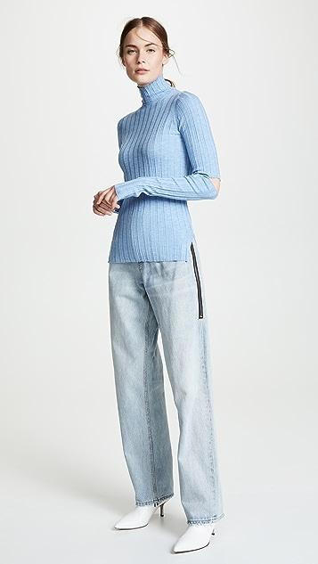 Helmut Lang Slash Rib Knit