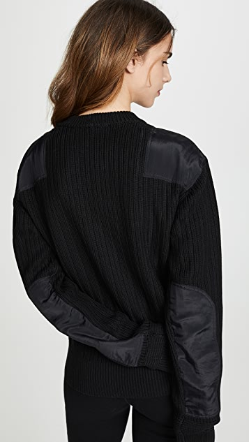 Helmut Lang Military Patch Crew Sweater