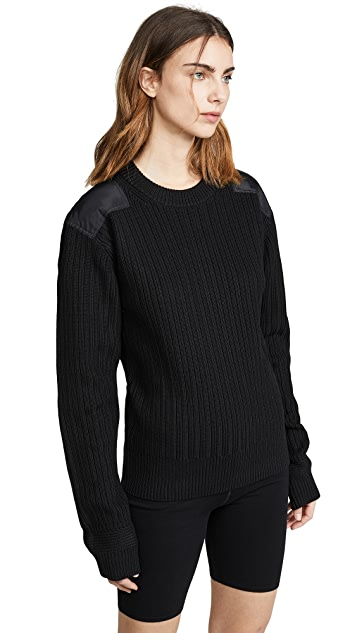Helmut Lang Knits Military Patch Crew Sweater