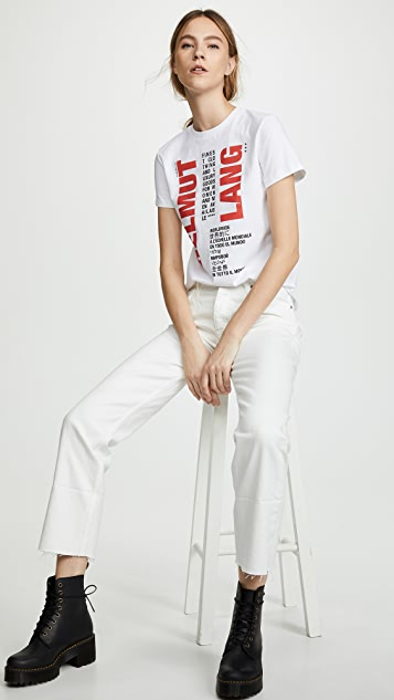 Helmut Lang Worldwide Tee