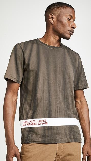 Helmut Lang Strange Days Tie Dye Short Sleeve Tee Shirt