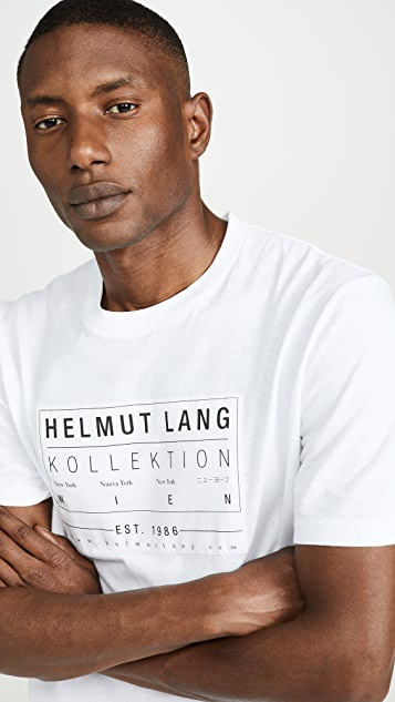 Helmut Lang Kollection Patch Short Sleeve Tee Shirt