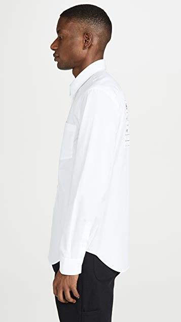 Helmut Lang Kollection Patch Long Sleeve Shirt