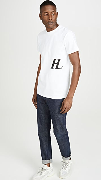 Helmut Lang Little Logo Short Sleeve Tee Shirt