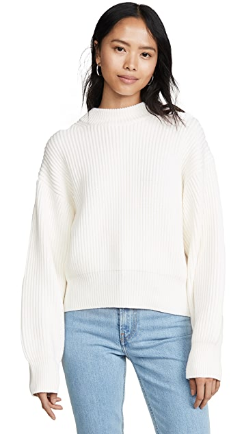 Helmut Lang Wool Cotton Crew Neck Sweater