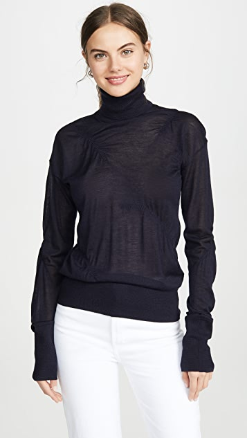 Helmut Lang Elasticated Cashmere Turtleneck