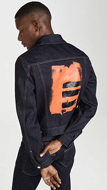 Helmut Lang Masc Josephine Striped Trucker Jacket