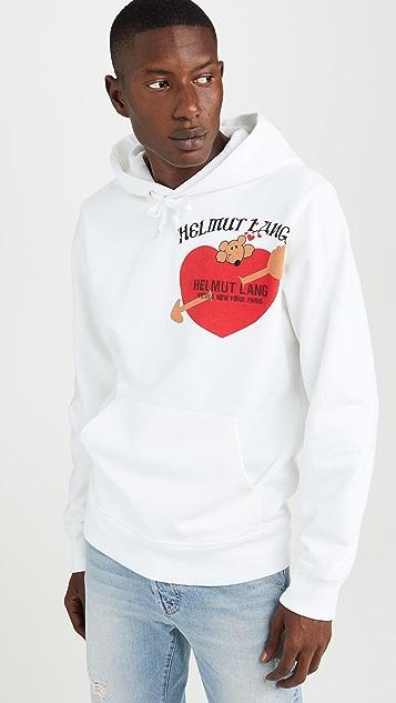 Helmut Lang Valentine Logo Standard Hoodie