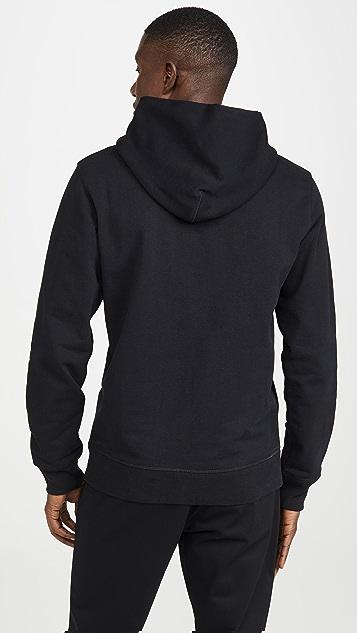 Helmut Lang Raised Embroidery Logo Standard Hoodie