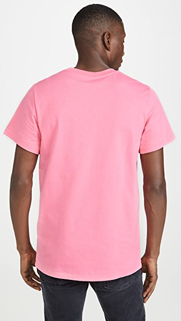 Helmut Lang Raised Embroidery Logo Standard Tee Shirt