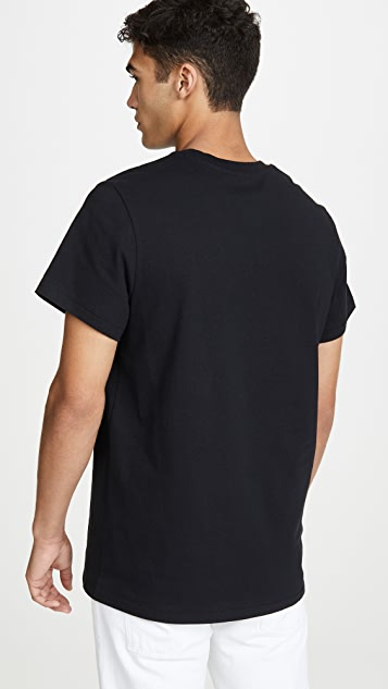 Helmut Lang Raised Embroidery Logo T-Shirt