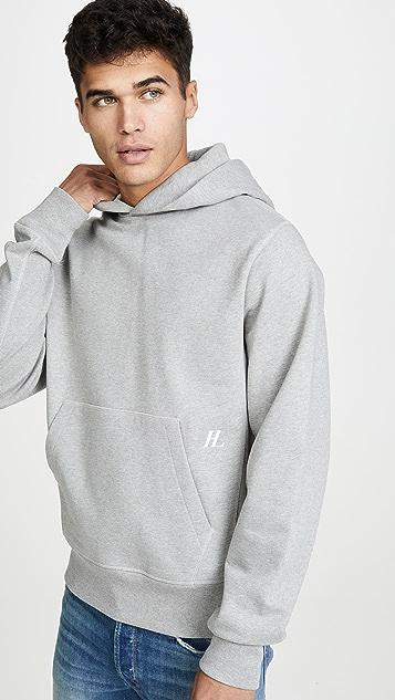 Helmut Lang Compact Brushed Logo Hoodie