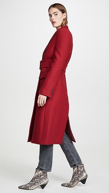Helmut Lang Двубортное пальто