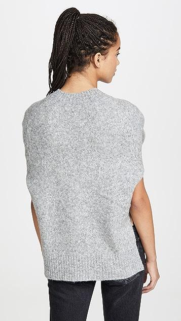 Helmut Lang Brushed V Neck Tie Sleeve Sweater