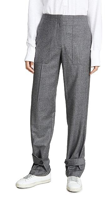 Helmut Lang Фланелевые брюки в стиле милитари