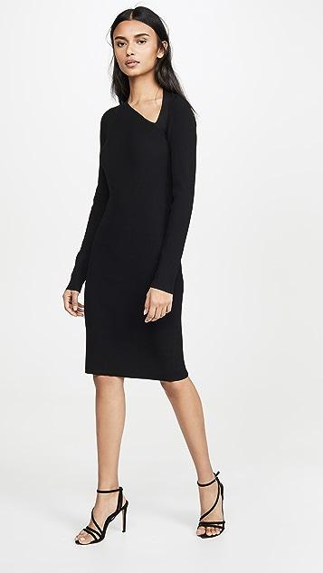 Helmut Lang Платье с рукавами реглан