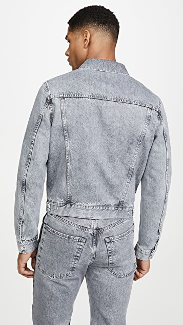 Helmut Lang Masc Trucker Jacket With Taped Zipper