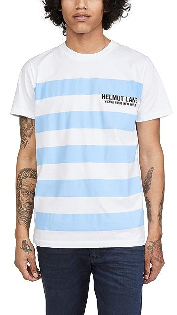 Helmut Lang Wide Stripe Logo Tee