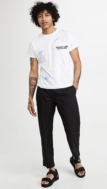 Helmut Lang Paint Splattered T-Shirt