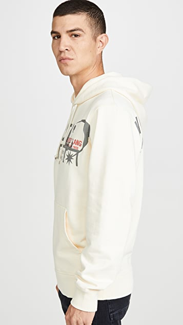 Helmut Lang Long Sleeve Logo Standard Hoodie