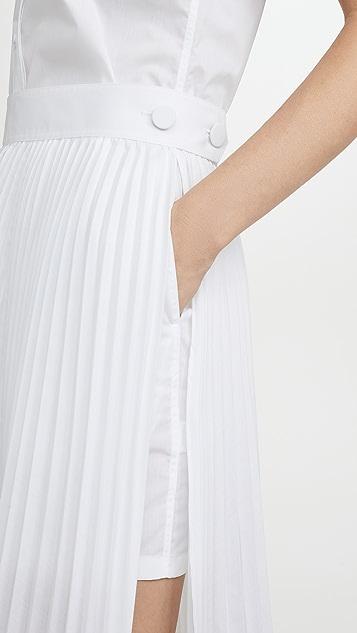 Helmut Lang Cotton Pleated Dress