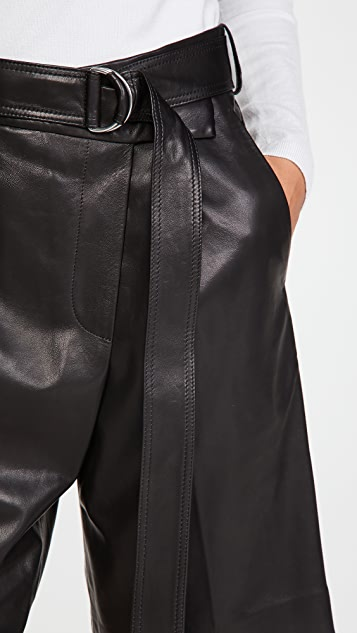 Helmut Lang 皮裹身短裤