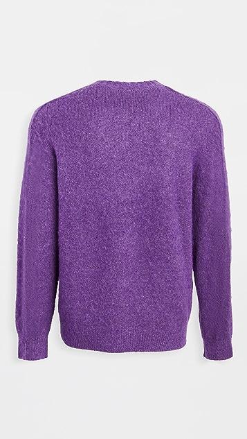 Helmut Lang Brushed Alpaca Crew Neck Sweater