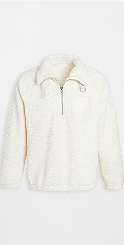 Helmut Lang - Shaggy Fleece Quarter Zip Sweatshirt