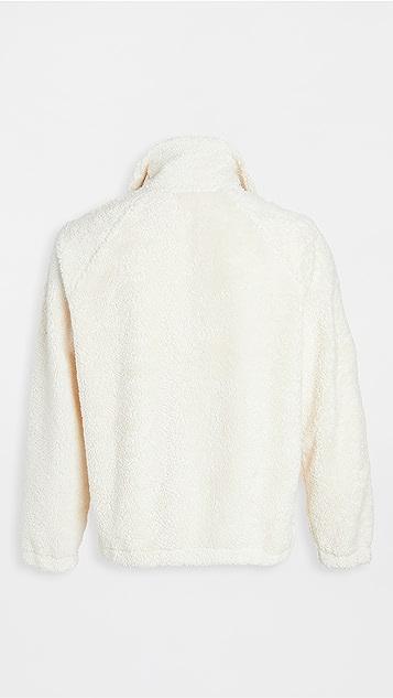 Helmut Lang Shaggy Fleece Quarter Zip Sweatshirt