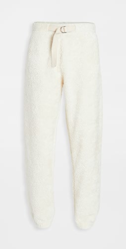 Helmut Lang - Shaggy Fleece Belted Sweatpants