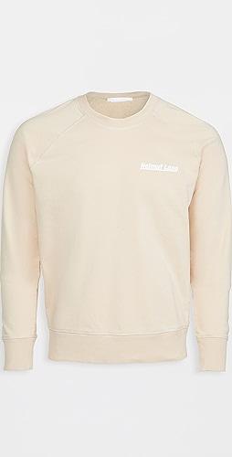 Helmut Lang - Logo Raglan Sleeve Crew Neck Sweatshirt