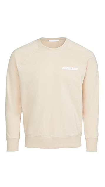 Helmut Lang Logo Raglan Sleeve Crew Neck Sweatshirt