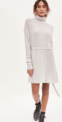 Helmut Lang - Strap Turtleneck Alpaca Dress