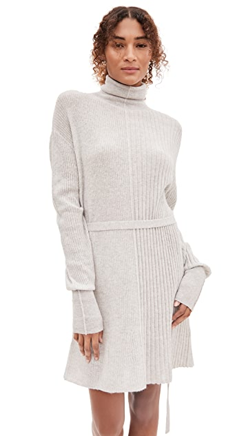 Helmut Lang Strap Turtleneck Alpaca Dress
