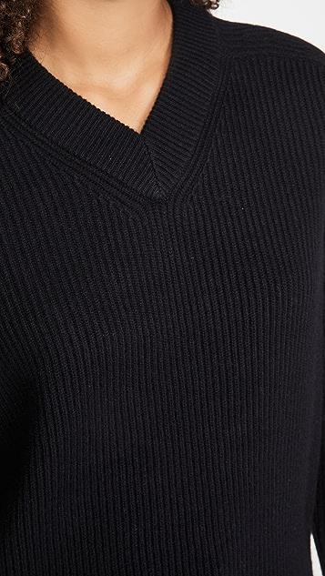 Helmut Lang Cutout V Neck Sweater