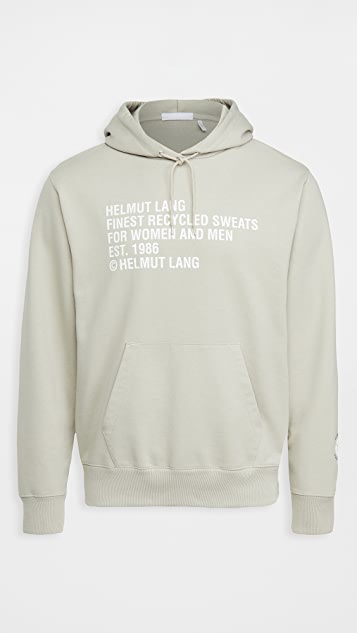 Helmut Lang Recycled Pullover Hoodie