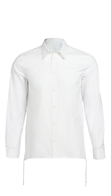 Helmut Lang Laced Button Down Shirt