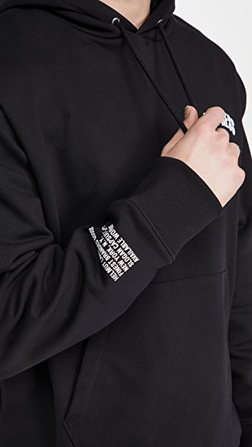 Helmut Lang Impress Slogan Hoodie