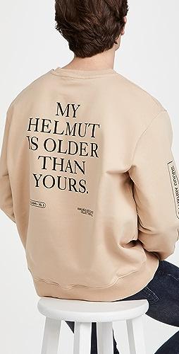Helmut Lang - Older Slogan Crew Neck Sweatshirt